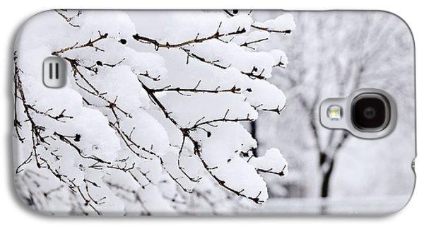 January Galaxy S4 Cases - Winter park under heavy snow Galaxy S4 Case by Elena Elisseeva
