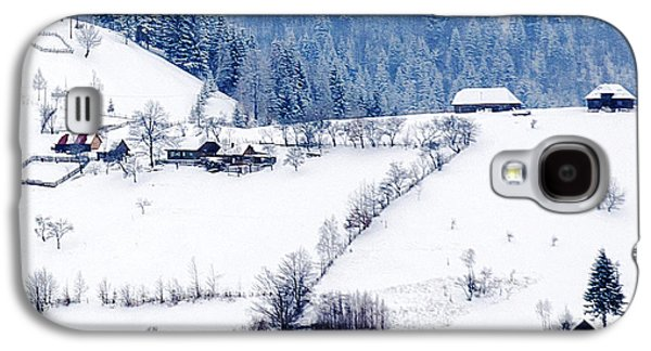 Bat Pyrography Galaxy S4 Cases - Winter Picture Galaxy S4 Case by Nedelcu Valeriu