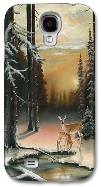 Kinkade Galaxy S4 Cases - Winter Redwoods Galaxy S4 Case by Cecilia  Brendel