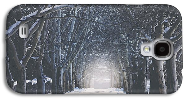 Winter Landscapes Galaxy S4 Cases - Winter Road Galaxy S4 Case by Carrie Ann Grippo-Pike