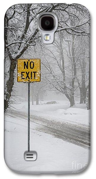 Winter Road During Snowfall II Galaxy S4 Case by Elena Elisseeva
