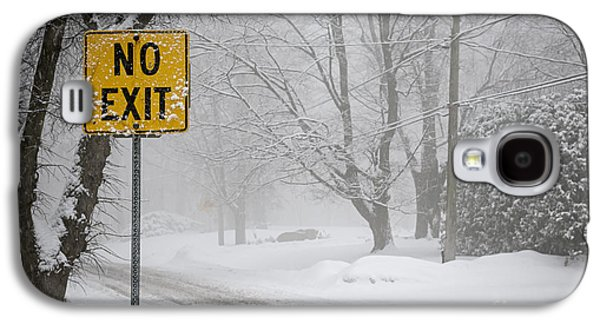 Winter Road During Snowfall Iv Galaxy S4 Case by Elena Elisseeva