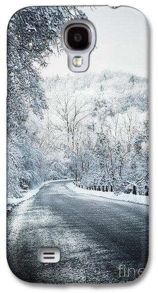 Winter Road In Forest Galaxy S4 Case by Elena Elisseeva