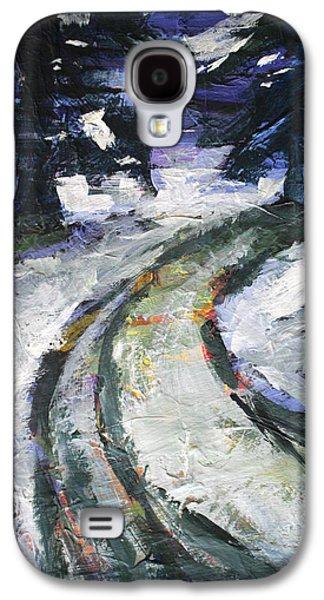 Winter Road Galaxy S4 Case by Nancy Merkle