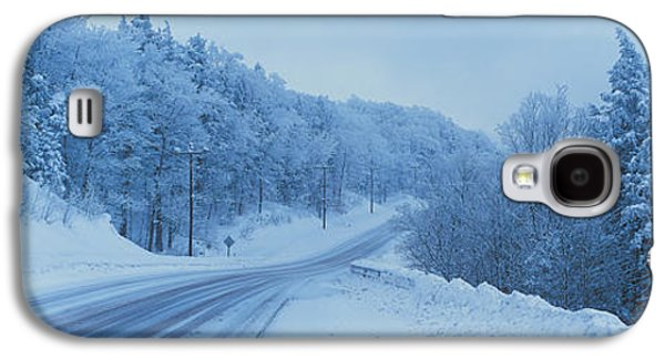 Winter Road Nh Usa Galaxy S4 Case by Panoramic Images