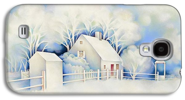 New England Snow Scene Paintings Galaxy S4 Cases - Winter Scene Galaxy S4 Case by Fredric G Henderson