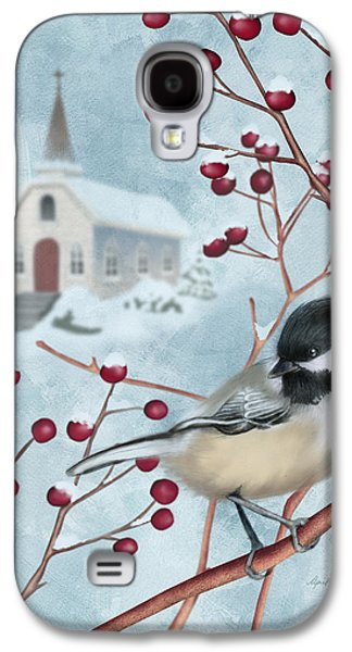 Snowy Digital Art Galaxy S4 Cases - Winter Scene I Galaxy S4 Case by April Moen