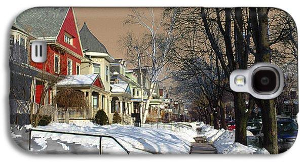 Transportation Pyrography Galaxy S4 Cases - Winter Scenery  Galaxy S4 Case by Viola El