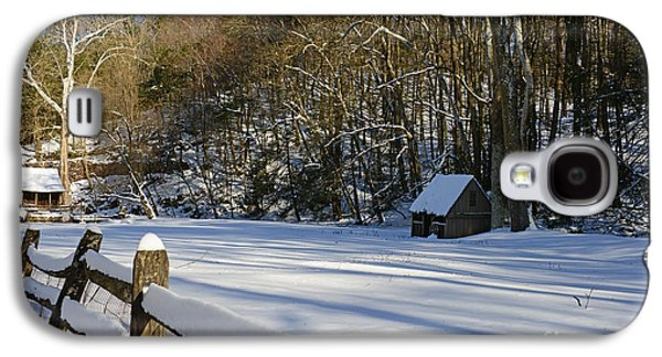 Winter Road Scenes Galaxy S4 Cases - Winter Shack Galaxy S4 Case by Paul Ward