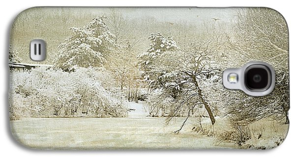 Snow-covered Landscape Digital Art Galaxy S4 Cases - Winter Silence Galaxy S4 Case by Julie Palencia