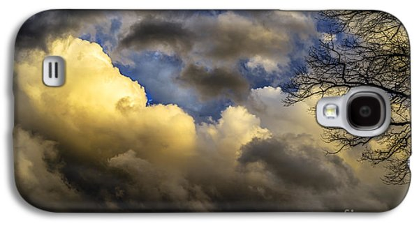 Colorful Cloud Formations Galaxy S4 Cases - Winter Sky Drama Galaxy S4 Case by Thomas R Fletcher
