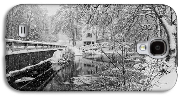 Maine Roads Galaxy S4 Cases - Winter Snow Storm In Somesville Maine Galaxy S4 Case by Keith Webber Jr