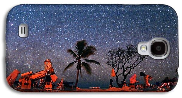 Winter Star Party Under Stars Galaxy S4 Case by Tony & Daphne Hallas