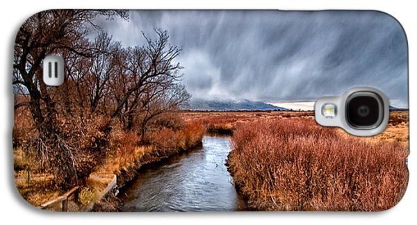 Winter Storm Photographs Galaxy S4 Cases - Winter Storm over Owens River Galaxy S4 Case by Cat Connor