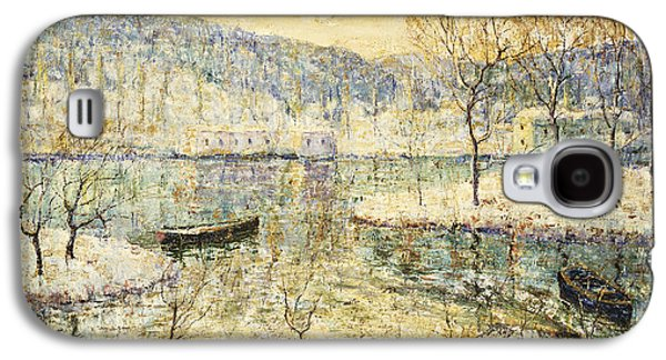 Water Vessels Paintings Galaxy S4 Cases - Winter Stream Galaxy S4 Case by Ernest Lawson
