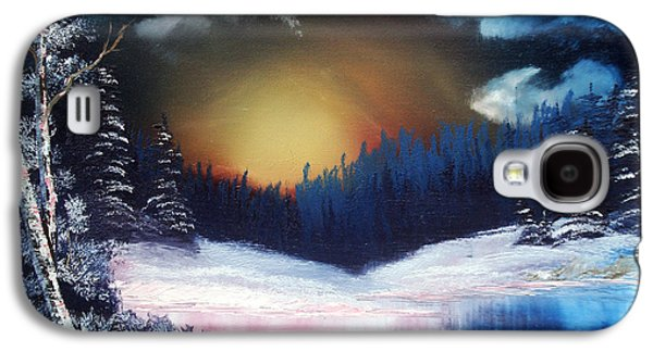 Bob Ross Paintings Galaxy S4 Cases - Winter Sun Rise Galaxy S4 Case by Ryan Wells