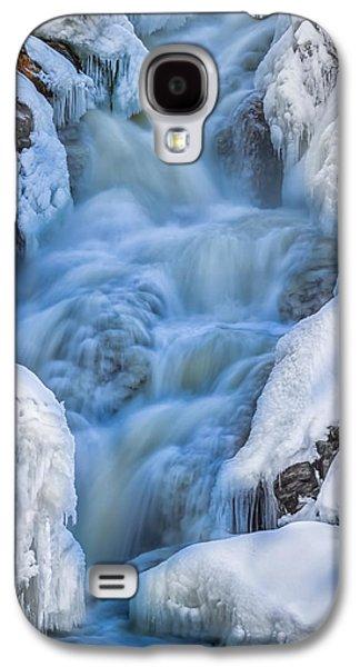 Dreamscape Galaxy S4 Cases - Winter Sunrise Great Falls Galaxy S4 Case by Bob Orsillo