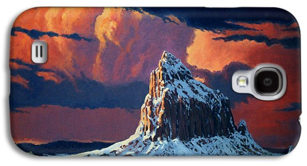 Randy Galaxy S4 Cases - Winter Sunset Over Shiprock Galaxy S4 Case by Randy Follis