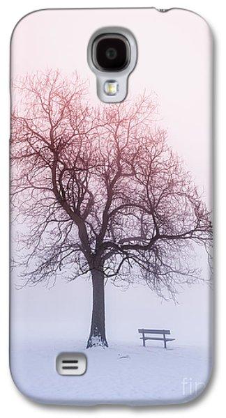 Snow Scene Landscape Galaxy S4 Cases - Winter tree in fog at sunrise Galaxy S4 Case by Elena Elisseeva