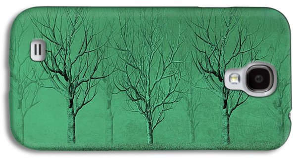 Business Drawings Galaxy S4 Cases - Winter Trees in the Mist Galaxy S4 Case by David Dehner