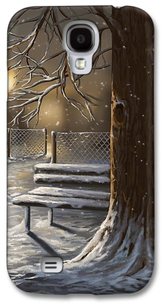 Park Scene Paintings Galaxy S4 Cases - Winter trilogy 1 Galaxy S4 Case by Veronica Minozzi