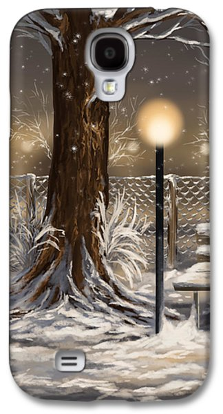 Winter Paintings Galaxy S4 Cases - Winter trilogy 2 Galaxy S4 Case by Veronica Minozzi