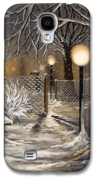 Winter Light Paintings Galaxy S4 Cases - Winter trilogy 3 Galaxy S4 Case by Veronica Minozzi