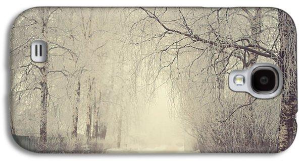 Winter Road Scenes Galaxy S4 Cases - Winter Way Galaxy S4 Case by Jenny Rainbow