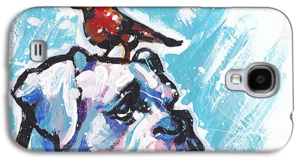 Winter White Boxer Galaxy S4 Case by Lea S