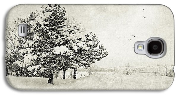 Snowy Day Galaxy S4 Cases - Winter White Galaxy S4 Case by Julie Palencia