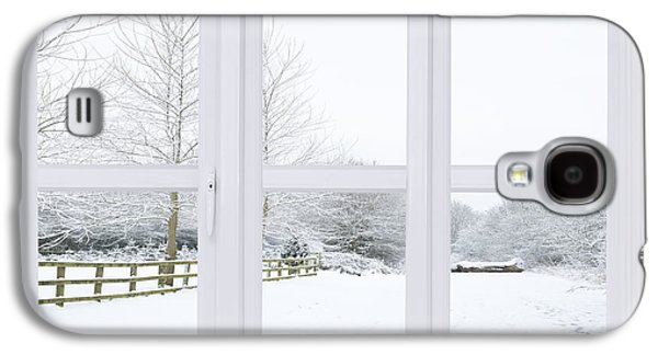 Interior Scene Photographs Galaxy S4 Cases - Winter Window Galaxy S4 Case by Amanda And Christopher Elwell