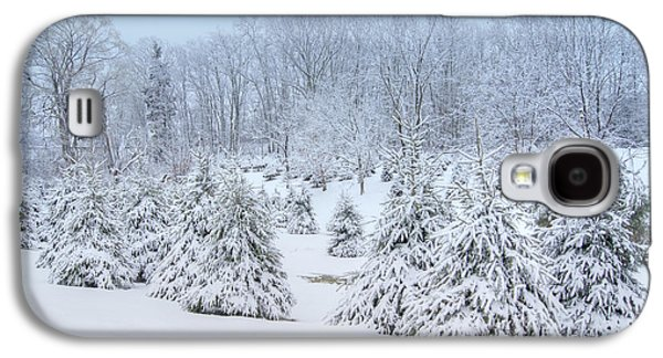 Trees In Snow Galaxy S4 Cases - Winter Wonderland Galaxy S4 Case by Benanne Stiens
