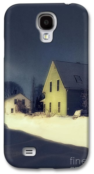 Snowy Evening Galaxy S4 Cases - Snowy Night Galaxy S4 Case by HD Connelly