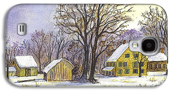 Shed Drawings Galaxy S4 Cases - Wintertime in The Country Galaxy S4 Case by Carol Wisniewski