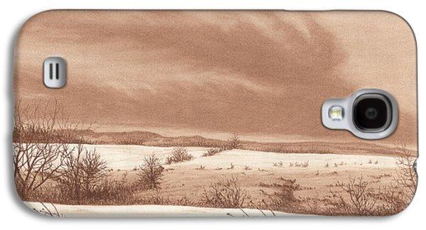 Winter Scene Pastels Galaxy S4 Cases - Wintry Meadow Galaxy S4 Case by Peter Rashford