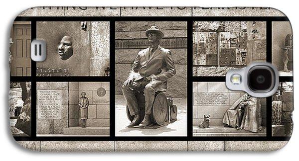 Franklin Galaxy S4 Cases - WIP - FDR Memorial - Washington DC Galaxy S4 Case by Mike McGlothlen