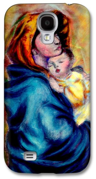 Religious Pastels Galaxy S4 Cases - WIP Madonnina or Madonna of The Streets Rendition in Pastel Original Oil by Roberto Ferrizzi Galaxy S4 Case by Antonia Citrino