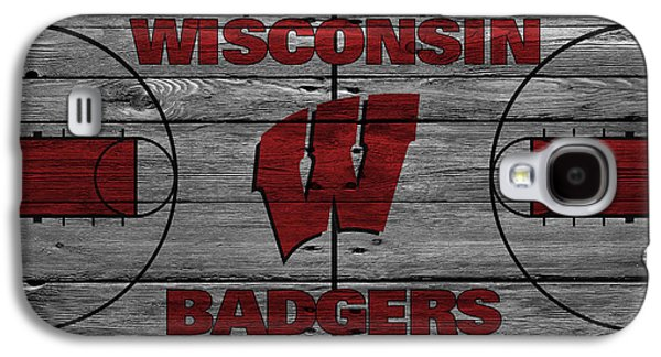 Dunk Galaxy S4 Cases - Wisconsin Badger Galaxy S4 Case by Joe Hamilton