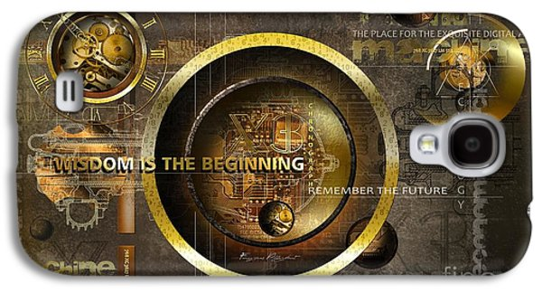 Exchange Mixed Media Galaxy S4 Cases - Wisdom is the Beginning Galaxy S4 Case by Franziskus Pfleghart
