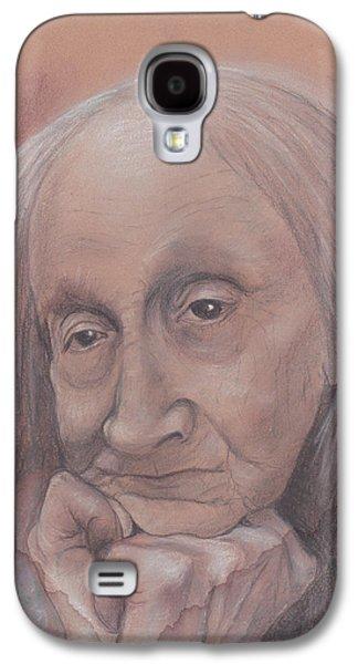 Original Art Pastels Galaxy S4 Cases - Wisdom Galaxy S4 Case by Vita Schagen