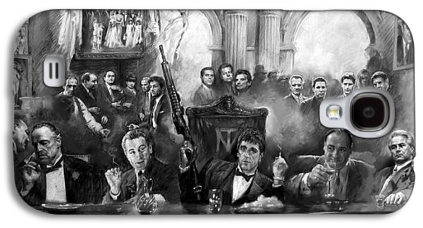Scarface Galaxy S4 Cases - Wise Guys Galaxy S4 Case by Ylli Haruni