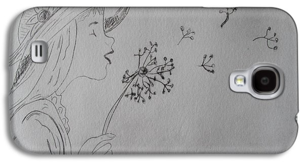 Drypoint Galaxy S4 Cases - Wish Upon a Dandelion Galaxy S4 Case by Jennifer Schwab