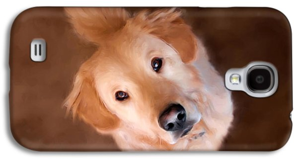Dog Close-up Paintings Galaxy S4 Cases - Wishful Thinking Galaxy S4 Case by Christina Rollo