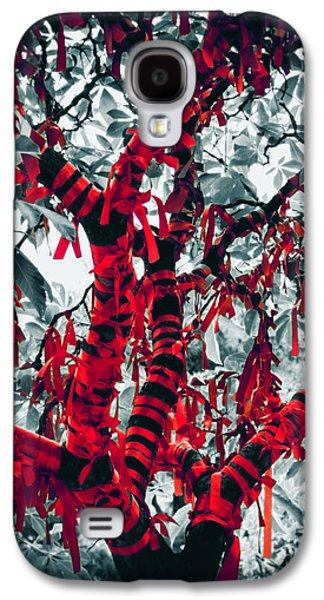 Tibetan Buddhism Galaxy S4 Cases - Wishing Tree Galaxy S4 Case by Wim Lanclus