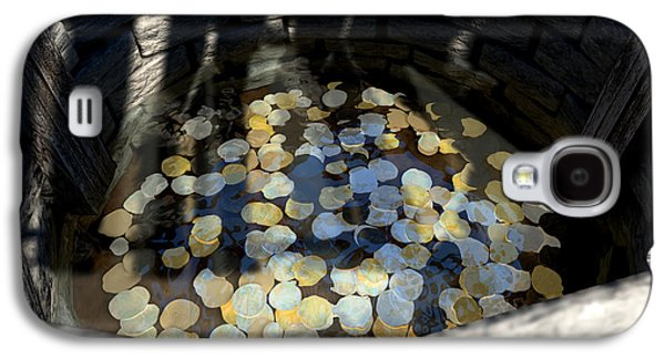 Wishes Galaxy S4 Cases - Wishing Well With Coins Perspective Galaxy S4 Case by Allan Swart
