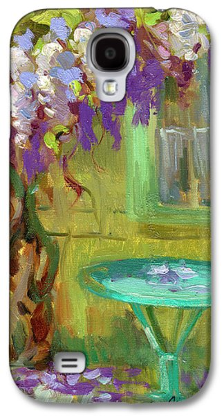 Garden Scene Galaxy S4 Cases - Wisteria At Hotel Baudy Galaxy S4 Case by Diane McClary