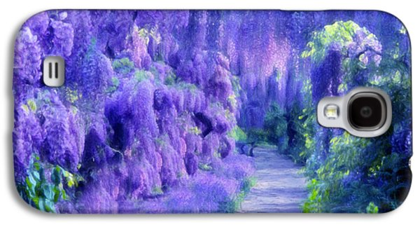 Wisteria Dreams Impressionism Galaxy S4 Case by Georgiana Romanovna