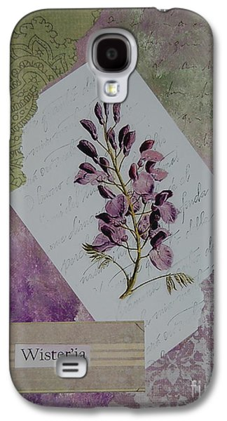 Nature Study Mixed Media Galaxy S4 Cases - Wisteria Galaxy S4 Case by Tamyra Crossley