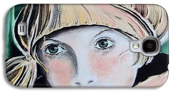 Missing Child Paintings Galaxy S4 Cases - Wistful Galaxy S4 Case by Barbara Chase