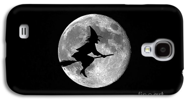 Creepy Digital Galaxy S4 Cases - Witchy Moon Galaxy S4 Case by Al Powell Photography USA